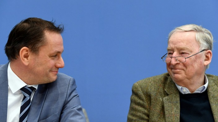 Germany's AfD reacts to the Hamburg state elections, in Berlin