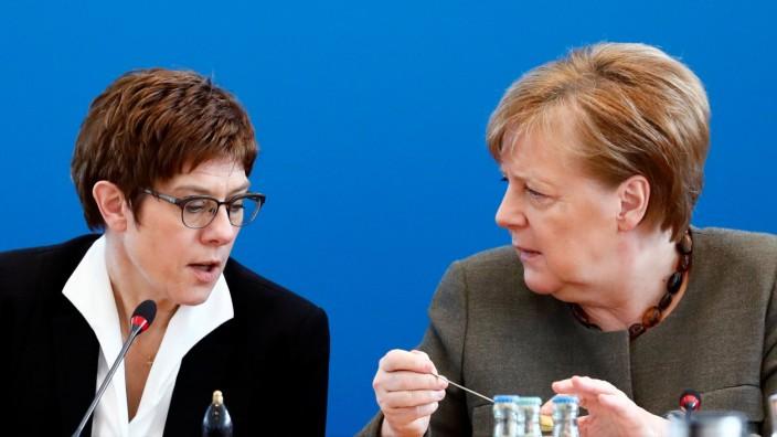 CDU Kramp Karrenbauer Merkel