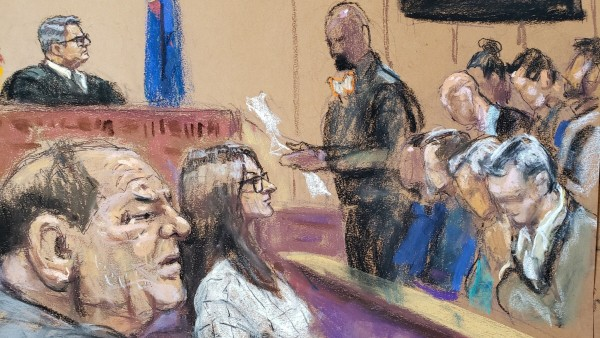 Jury foreman reads the verdict in film producer Harvey Weinstein's sexual assault trial