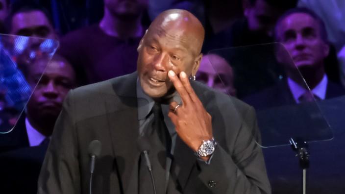 Michael Jordan bei der Trauerfeier für Kobe Bryant