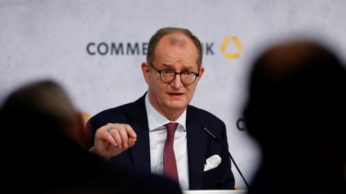 Germany's Commerzbank AG hold their annual results press conference in Frankfurt
