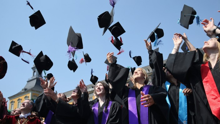 University Students Celebrate Their Graduation