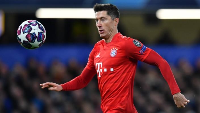 FC Bayern: Robert Lewandowski beim Spiel gegen Chelsea London