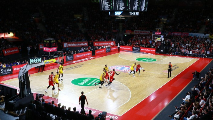 Audi Dome, Innenansicht, Halle / Basketball / Euroleague / FC Bayern Basketball - FC Barcelona, Barca / 20.12.2019 / ***; Audi Dome Halle