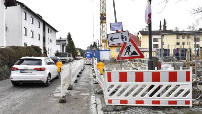 Starnberg, von der Tann-Straße, Baustelle