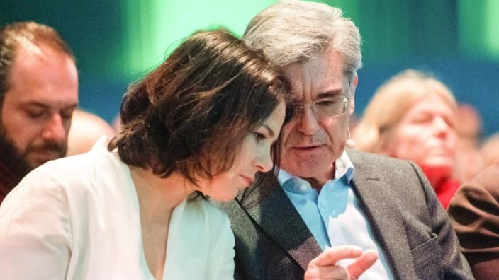 Annalena Baerbock und Joe Kaeser im Februar 2020 beim Wirtschaftskongress der Grünen-Bundestagsfraktion