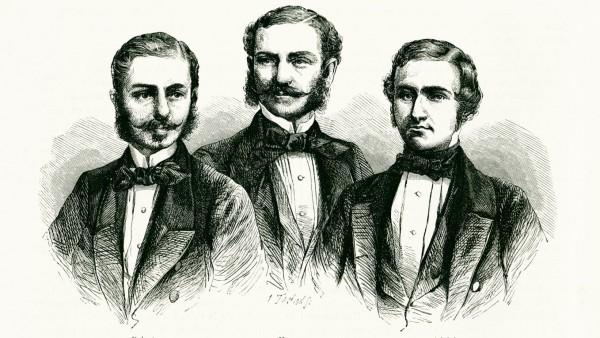 Les freres SCHLAGINTWEIT Les freres SCHLAGINTWEIT , explorateurs de l Himalaya en 1855-1857 in Le Tour du monde, 1860. C