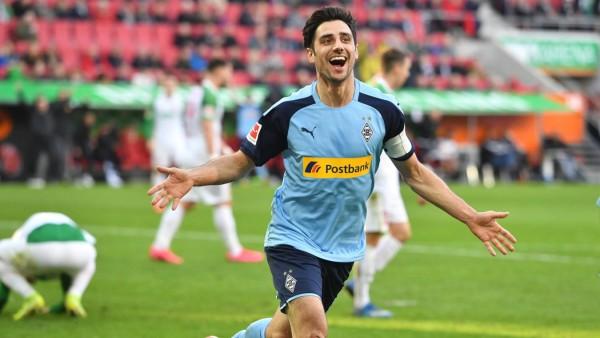 Torjubel Lars STINDL (Borussia Moenchengladbach) nach Tor zum 1-3, Jubel,Freude,Begeisterung, Aktion.. Fussball 1. Bund; stindl2