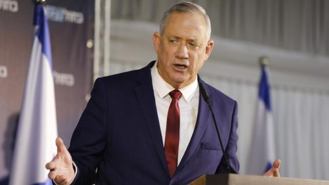Wahl in Israel 2020: Benny Gantz spricht in Ramat Gan