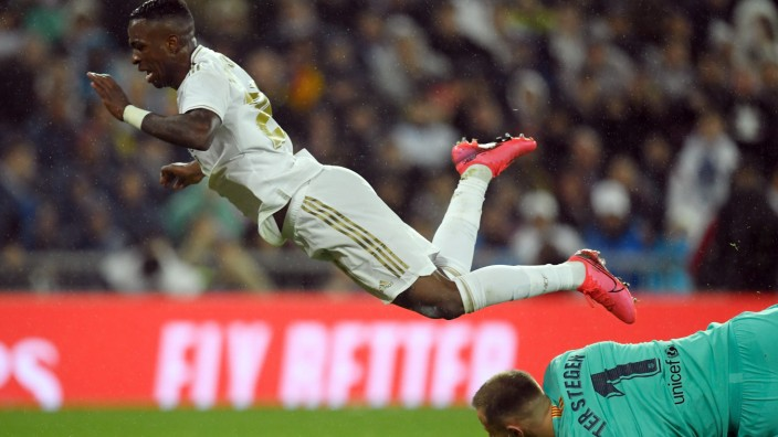 Clasico 2020: Vinicius Junior im Spiel Real Madrid gegen FC Barcelona