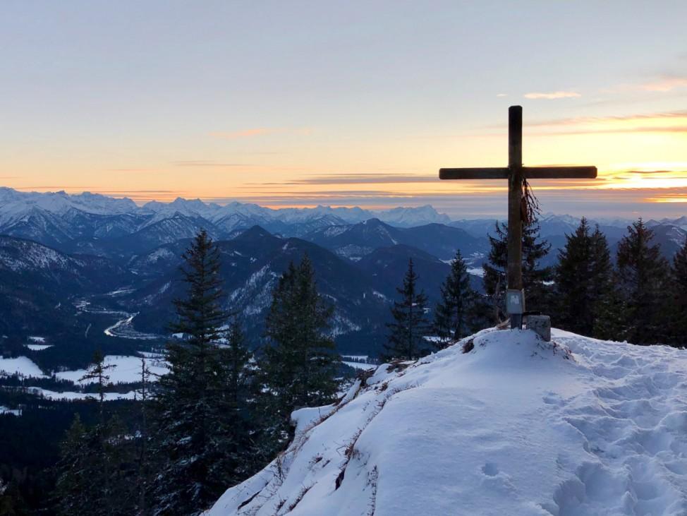 Blick vom Grasleitenkopf,Winterwanderung