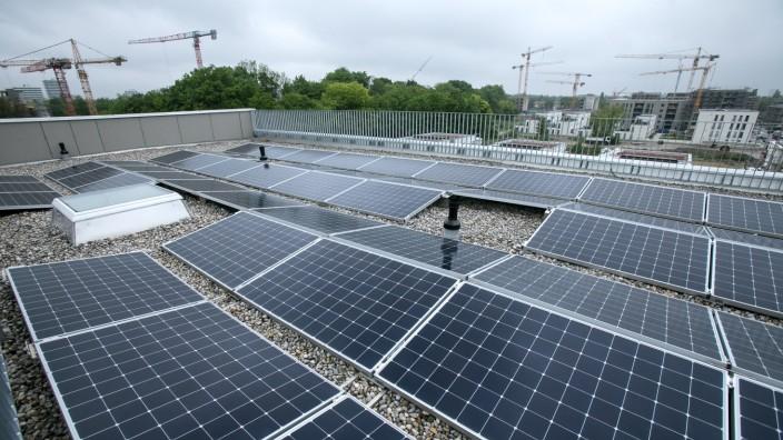 Solarzellen in München, 2019