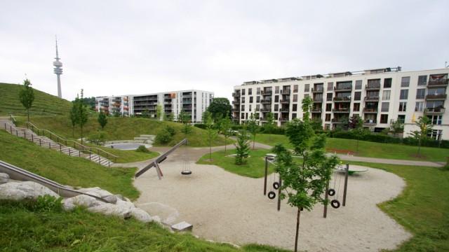 Wohnviertel Ackermannbogen in München, 2010