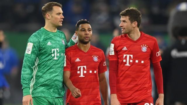FC Bayern: Spieler nach dem Pokalspiel 2020 gegen Schalke 04