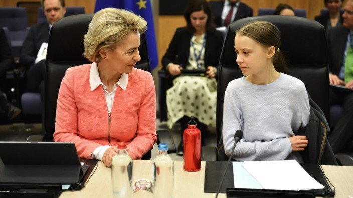 Greta Thunberg Meets European Commission President To Announce EU Climate Deal