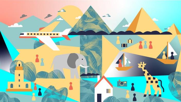Tourismus in der Krise: Illustration: Jessy Asmus