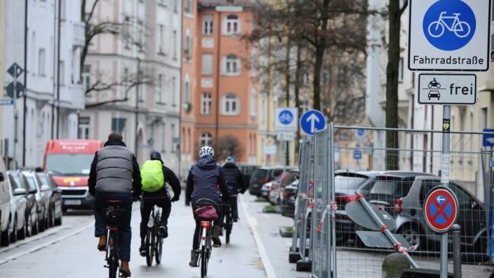 Fahrradstraße in München, 2020