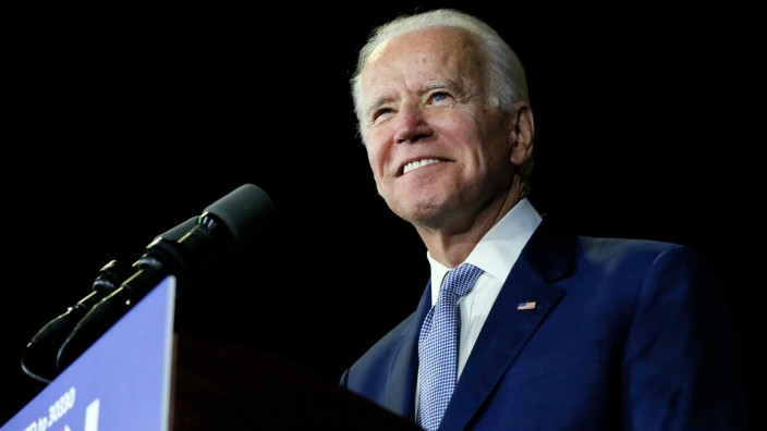 Democratic U.S. presidential candidate and former Vice President Joe Biden speaks at his Super Tuesday night rally in Los Angeles