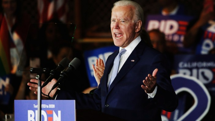 Democratic U.S. presidential candidate and former Vice President Joe Biden's Super Tuesday night rally in Los Angeles