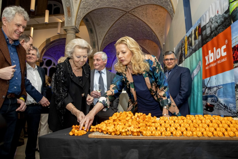 Princess Mabel And Princess Beatrix At Prince Friso Award In Delft
