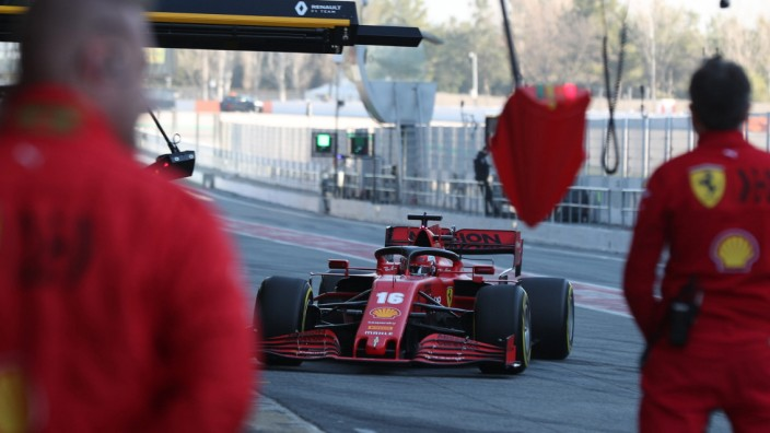 28th February 2020; Circuit De Barcelona Catalunya, Barcelona, Catalonia, Spain; Formula 1 Pre season Testing Week Two,; Ferrari Manipulation