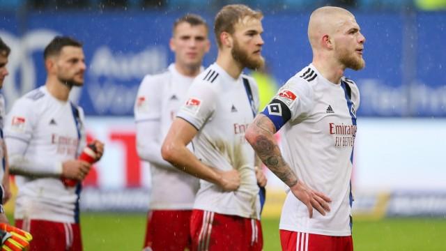 Hamburger SV: Spieler nach der Niederlage in der Rückrunde 2020