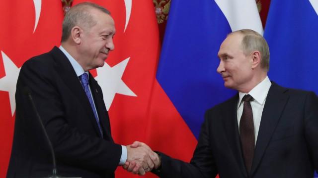 Türkischer Präsident Erdogan zu Besuch in Moskau