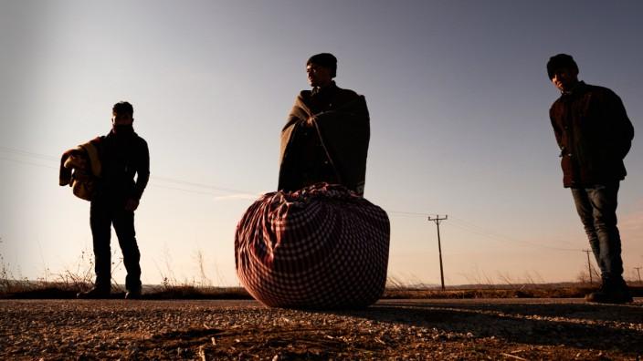 Migranten an der türkisch-griechischen Grenze