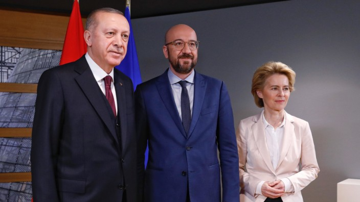 EU und Türkei: Treffen von Recep Tayyip Erdoğan, Charles Michel und Ursula von der Leyen