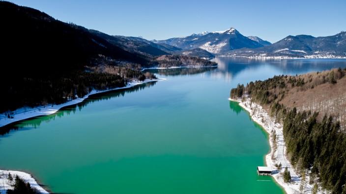 Walchensee beim Niedernach-Kraftwerk