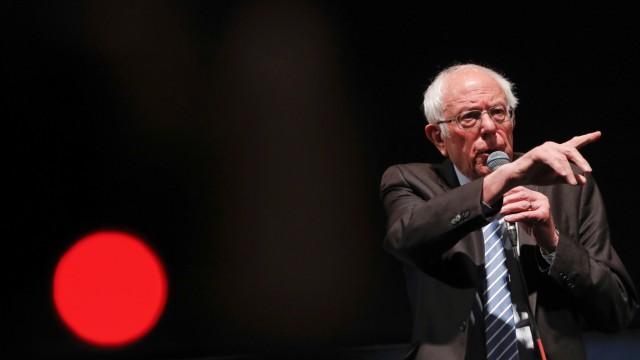 U.S. Democratic presidential candidate Bernie Sanders speaks during a rally in St Louis, Missouri