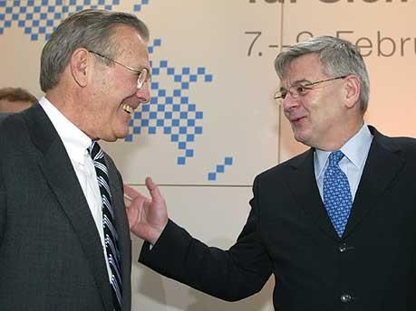 Sicherheitskonferenz Donald Rumsfeld Joschka Fischer