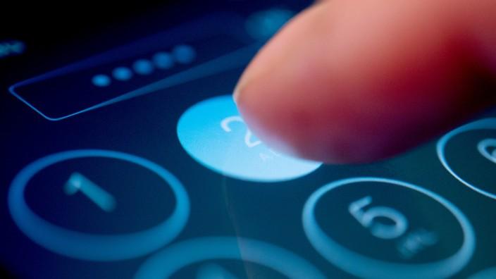 Pin-Eingabe beim Smartphone