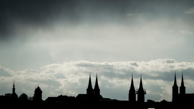 Regenwolken über Bamberg