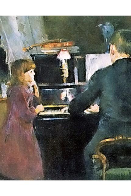 """Kultur und Corona: Kammermusik is coming home! Harriet Backer: """"Der große Bruder spielt"""" (1890)."""