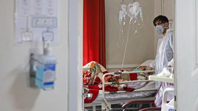 Coronavirus: Szene aus einem Krankenhaus in Teheran