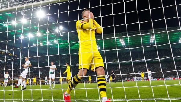 Bundesliga: Erling Haaland im Spiel Borussia Mönchengladbach gegen Borussia Dortmund