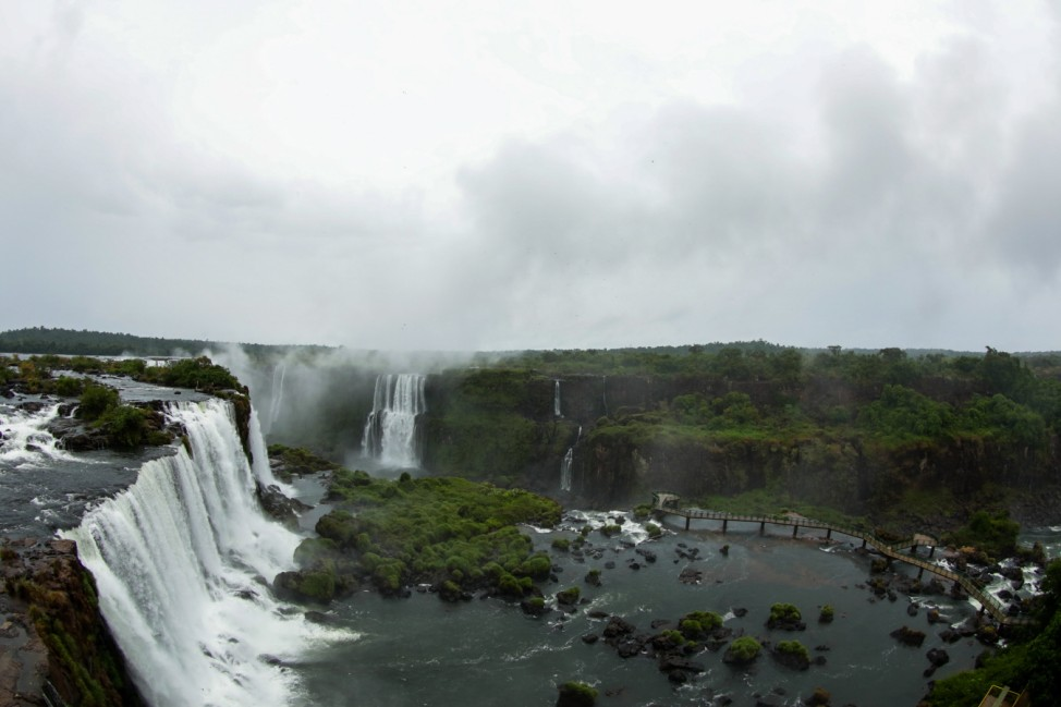 Iguazu Falls Unusually Empty Of Tourists Due To The Coronavirus (COVID -19) Outbreak