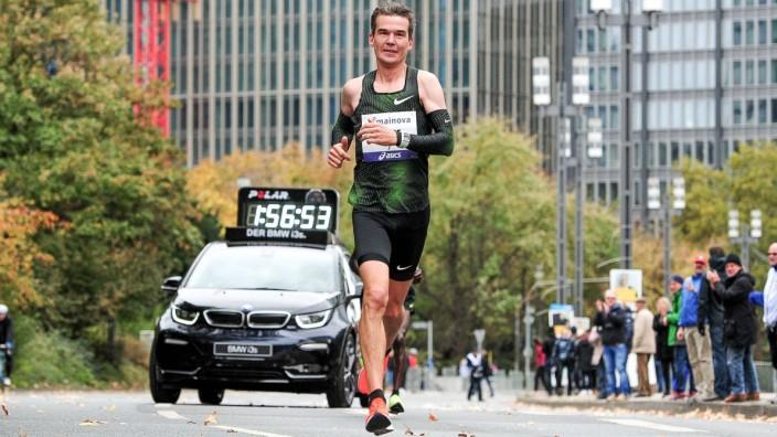 28 10 2018 xkaix Leichtathletik Marathon Mainova Frankfurt Marathon 2018 emspor v l Arne Gabius; Arne Gabius