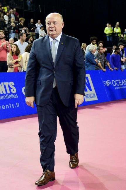 Bernard Giudicelli - President de la FFT TENNIS : Open Sud de France 2020 - Finale Simple - Montpellier - 09/02/2020 JBA