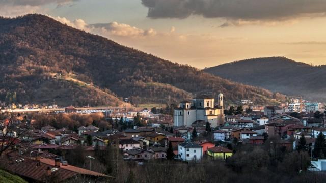 Nembro. Nembro Val Seriana country in the province of Bergamo where numerous cases of CoronaVirus COVID19 have been reco