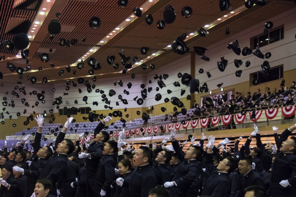 *** BESTPIX *** National Defense Academy Holds Graduation Ceremony As The Coronavirus Continue To Spread