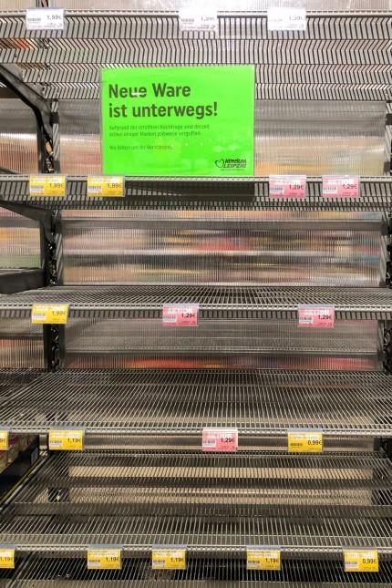 Coronavirus · Supermarkt in Leipzig