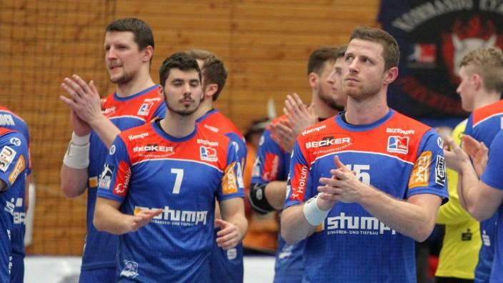 Balingen nach dem 25:25 Handball 1. HBL HBW Balingen-Weilstetten vs. TSV GWD Minden // 2020-03-07 // Handball 1. HBL HB