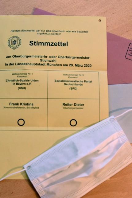 Der Stimmzettel für die Stichwahl ist deutlich übersichtlicher.