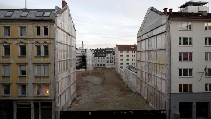 Balücke in der Türkenstraße in München, 2020