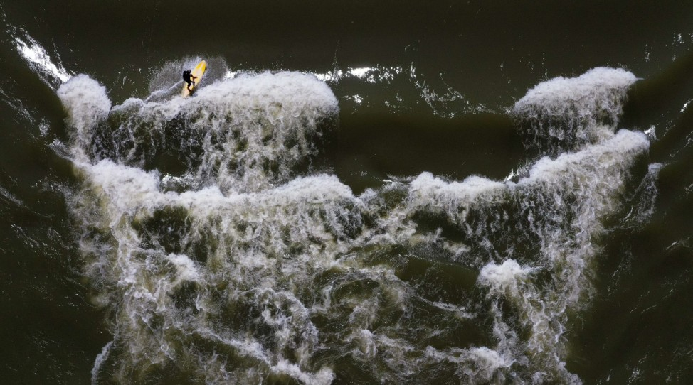 River Surfing In Texas