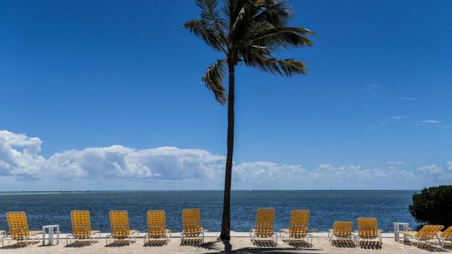 Leerer Strand in Florida