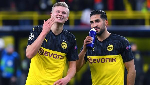 Fußball Champions League Achtelfinale Borussia Dortmund - Paris Saint-Germain am 18.02.2020 im Signal Iduna Park in Dort; Emre Can und Erling Haaland