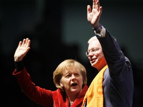 Roland Koche Angela Merkel
